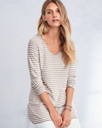 EILEEN FISHER Organic-Linen & Organic-Cotton Striped V-Neck Tunic