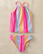 Girls' Shade Critters Stripe Tankini