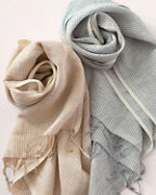 Vismaya Linen & Cotton Striped Scarf