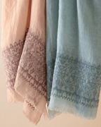 Vismaya Linen Embroidered Scarf