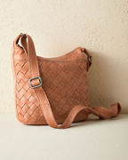 Latico Basket-Weave Cross-Body Bag