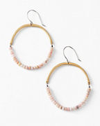 Satomi Studio Pink Opal Open Hoop Earrings
