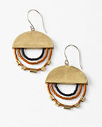 Satomi Studio Beaded Disc Earrings