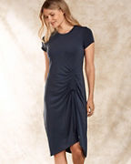 Cinched-Front Knit Dress