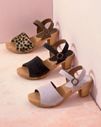 Sanita Camilla Wooden Heeled Sandals