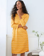 Relaxed Knit Shirttail Gown