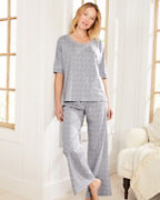 Relaxed Knit Fold-Over Pajamas