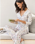 Twist-Front Knit Pajamas