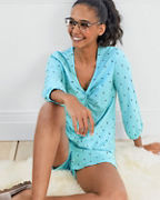 Twist-Front Shorty Pajamas