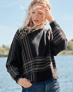 Slouchy Plaid Sweater