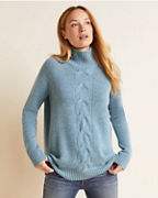 Cable-Detail Cashmere Tunic Sweater