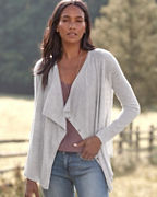 Modern Cashmere Drape-Front Cardigan