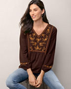 Fleur Embroidered Knit Top