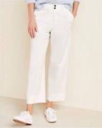 Cropped Wide-Leg Cord Pants