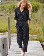 Essential Button-Front Jumpsuit