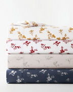 Cozy Vintage Floral Organic-Cotton Flannel Bedding