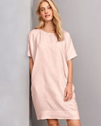 EILEEN FISHER Organic-Handkerchief-Linen Knee-Length Dress