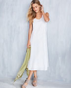 EILEEN FISHER Organic-Handkerchief-Linen Midi Dress
