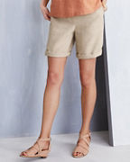 EILEEN FISHER Organic-Linen Classic Walking Shorts