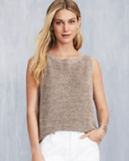 EILEEN FISHER Organic-Linen Mélange Sleeveless Sweater