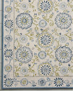 Company C Stitched Medallion Hooked Wool Rug