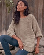 Recycled-Cashmere Bobble-Stitch Sweater