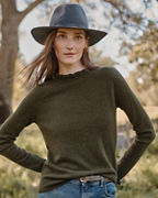 Cashmere Ruffled-Mock-Neck Sweater