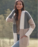 Cashmere Color-Block Cardigan