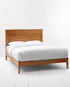 Archer Midcentury Modern Wood Bed
