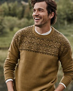 Men's Washable-Cashmere Jacquard Sweater