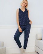 Relaxed Knit Sleeveless Pajamas