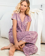 Twist-Front Cropped Pajamas