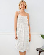 Organic-Cotton Pleated Knit Gown