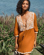Boho Embroidered Cover-Up