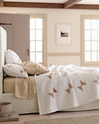 Organic-Cotton Carriage Quilt and Sham