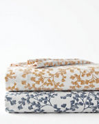Ginkgo Vine Relaxed-Organic-Cotton Sateen Bedding