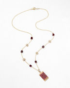 Michelle Pressler Mixed-Gemstone Short Pendant Necklace