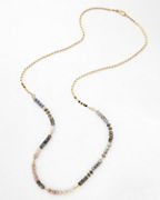 Robindira Unsworth Long Mixed-Stone Necklace