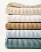 Organic-Cotton Ribbed Blanket