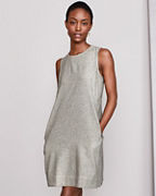 EILEEN FISHER Organic-Cotton & Linen Ticking-Stripe Dress