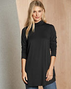 EILEEN FISHER Fine TENCEL™ Jersey Scrunch-Neck Tunic