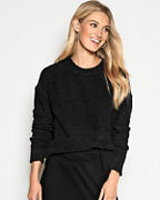 EILEEN FISHER Organic-Cotton Bouclé Crew-Neck Boxy Sweater