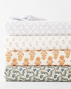 Artful Relaxed-Linen Pattern Bedding