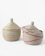 African Lidded Baskets