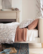 Mums Chenille Coverlet and Sham
