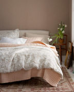 Canopy Shadow Relaxed-Linen Duvet Cover and Sham