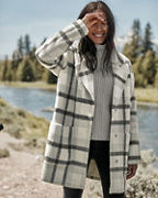 Andean Alpaca Plaid Coat
