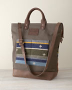 Pendleton Leather & Wool Tote
