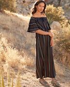 Off-The-Shoulder Knit Maxi Dress