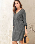 Tassel-Tie Knit Dress